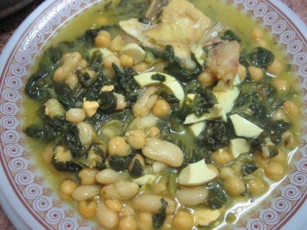 Receta potaje de semana santa enviado por dela chef uri - Potaje de garbanzos y judias ...