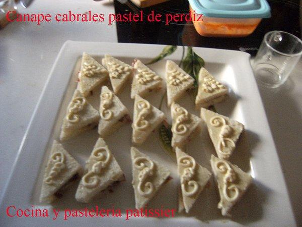 Canape de crema de queso Cabrales