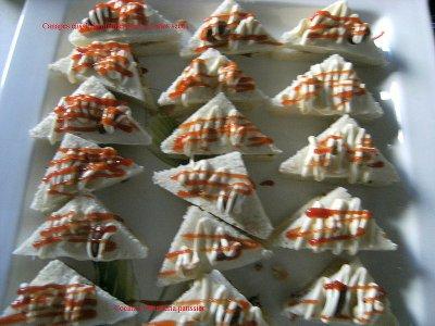 Canapes ensalada mediterranea de frutos secos